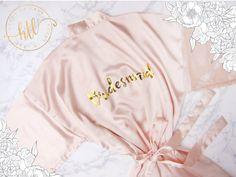 Bridesmaid Robes Bride Robe Bridal Robes Silk Satin by HeresToLove Wedding Attire, Wedding Dresses, Bridesmaid Robes, Maid Of Honor, Silk Satin, Dream Wedding, Bridal, Trending Outfits, Clothes