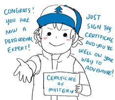 宇宙艦隊RAMBO- <Dipper and Mabel's Guide to Mystery and Non-Stop Fun> Dipper Pines Certificate of Mystery -That decoded certificate says some creepy shit...