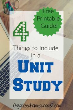 Get a free unit study planning guide printable. This guide works for any curriculum or grade level. This can be a great way to tie your child's interests in with subjects like math, science, history, language arts, and art. Homeschool Curriculum Reviews, Homeschooling Resources, Homeschool Supplies, Montessori Homeschool, Guide Words, Study Planner, Unit Plan, School Psychology, Home Schooling