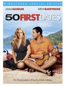 50 First Dates (Widescreen) on DVD from Sony Pictures Home Entertainment. Directed by Peter Segal. Staring Drew Barrymore, Adam Sandler, Rob Schneider and Sean Astin. More Comedy, Romance and Movies DVDs available @ DVD Empire. 50 First Dates, Drew Barrymore, See Movie, Movie Tv, Adam Sandler Movies, Bon Film, Film Le, Movies Worth Watching, Chick Flicks