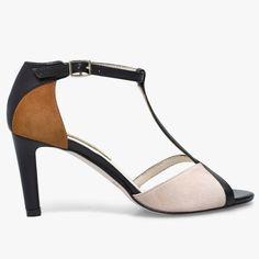 Sandale en cuir multi-co