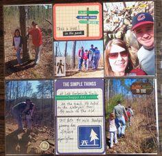 Hiking scrapbook layout