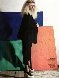Viktoriya Sasonkina for Elle UK (Mar 13).  Photography: Marcus Ohlsson  Fashion: Joanna Blades