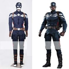 Wholesale Anime Costumes - Buy Captain America 2 Winter Soldier Steve Rogers Outfit Wearable Cosplay Costume Xs-3xl Laid Heavily Mold Custom, $322.52   DHgate