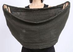 rundholz black label - Schal Loop gekochte Wolle beluga - Winter 2016 - stilecht - mode für frauen mit format... 60 x 160