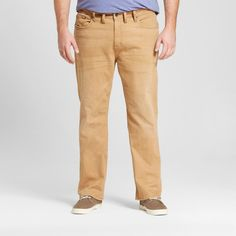 Men's Big & Tall Straight Fit Khaki Jeans 44x30 - Mossimo Supply Co., Beige
