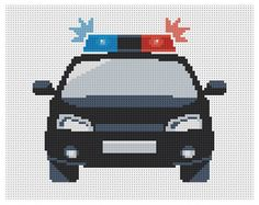 Instant download. Cross stitch pattern. Police car. by Domcraft