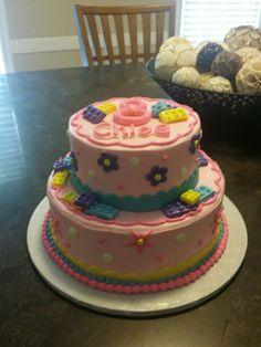 Girl Lego Birthday Cake