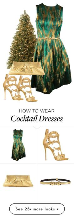 """Green & Gold"" by ljbminime on Polyvore featuring Michael Kors, Giuseppe Zanotti, Marni and Lauren Merkin"