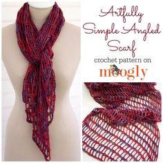 Artisticamente simples lenço angular - um padrão de crochet novo no Moogly!