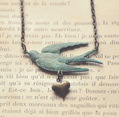 swooping swallow necklace. by bellehibou on Etsy