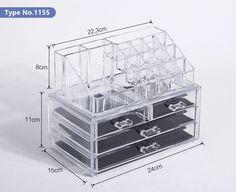 Acrylic Makeup Storage Box Transparent Cosmetic Jewelry Organizer Drawer Case Display Box Makeup Storage Rack Container