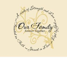 our family is a circle of strength and love Print - Bing images