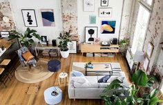Gravity Home: Warehouse Apartment with exposed brick by Hunting for George