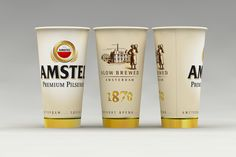 Бумажный стакан , Amstel от рекламного агентства Fishkey