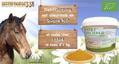 Aujourd'hui c'est deux nouvelles en une !  Une Baisse de Prix et un passage en Qualité Bio du Distri'Curcma.  Désormais  Distri'Curcuma Bio 1 kg est à 17,50€ etle 2,5 kg à 40€  Besoin de le voir pour le croire? c'est par ici :  http://www.distrihorse33.com/plantes/945-distri-curcuma-bio.html Une belle journée à vous tous sur www.distrihorse33.com  #produitsbio #curcuma_bio
