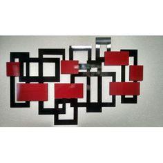 Quadro Abstrato Em Mdf 6,0mm Vazado Com Pintura Laca - R$ 179,90 Empty Frames, Geometric Wall, Pencil Drawings, Architecture Design, Family Room, Diy Crafts, Wall Art, Mirror, House