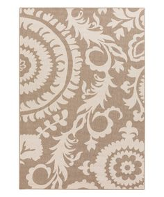 Love this Taupe Abstract Indoor/Outdoor Alfresco Rug on #zulily! #zulilyfinds