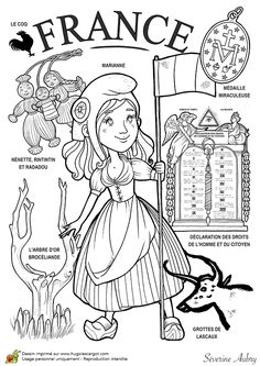 "iColor ""Little Kids Around The World"" ~ France Around The World Theme, Kids Around The World, Around The Worlds, Colouring Pages, Coloring Books, World Thinking Day, World Geography, Thematic Units, World Cultures"