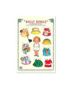 Dolly Dingle Cut-Out Paper Doll Sheet | The Dolly Dingle Paper Doll Sheet from Shackman Company features the popular Grace M. Drayton character from the 1920s with several outfits. | Sycamore Street Press bit.ly/1Qc1lKJ