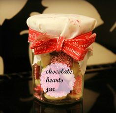 Get crafty for Christmas presents and save money by making chocolate hearts. How To Make Chocolate, Making Chocolate, Chocolate Hearts, Christmas Presents, Ice Cream, Jar, Crafty, Desserts, Campaign
