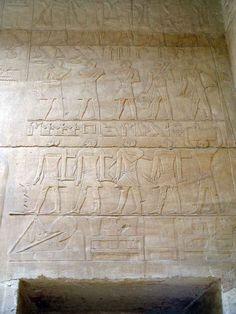 Tomb of Rekhmire (TT100), reign of Thutmose III: line 1 ...