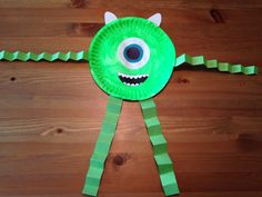 Mike Wazowski Paper Plate Craft - Monsters, Inc. Craft - Monsters University Craft - Disney Craft - Preschool Craft