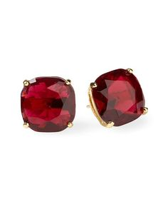 Square Stud Earring     red bridesmaids jewelry to match you if you change into red. btw is there such thing as too matchy at a wedding?