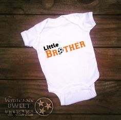 Little Soccer Brother White Onesie, Team Brother Onesie, Choose Team color, Infant onesie, Baby Boy Clothing
