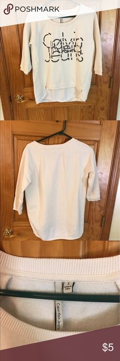 Calvin Klein Sweatshirt Calvin Klein Sweatshirt- high low hem, size small- no holes or stains smoke free home Calvin Klein Tops Sweatshirts & Hoodies