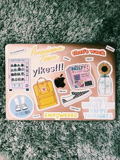MadEDesigns is an independent artist creating amazing designs for great products such as t-shirts, stickers, posters, and phone cases. Apple Laptop Stickers, Macbook Stickers, Coque Mac, Cute Stickers, Mac Stickers, Applis Photo, Macbook Case, Cute Cases, Photo Wall Collage