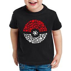 A.N.T. Atrapa más Monstruos Camiseta para Niños T-Shirt poke ball videojuego, Talla:152 #camiseta #starwars #marvel #gift