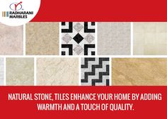 Natural stone, tiles enhance your home by adding warmth and a touch of quality. #NaturalStone #Tiles