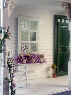 The Green Cottage With Wisteria.