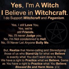 Yes I'm a witch