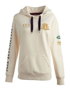 #JoulesforChristmas #joules #christmas #wish Joules null Womens Burghley Sweat, Creme.                     The hooded sweatshirt is something every wardrobe cries out for as the year draws to a close and this official Burghley Horse Trials is here to answer the call.