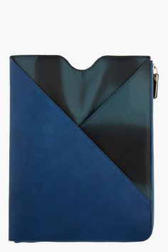 MAISON MARTIN MARGIELA Indigo Leather iPad Case