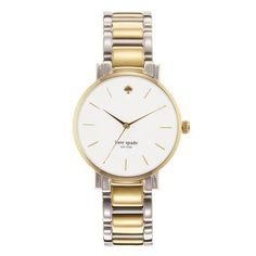 Gramercy Grand Two Tone Bracelet Watch: Leigh's #styleshack #shoplocal #accessories #watch #katespade #gold #silver #professional #chic