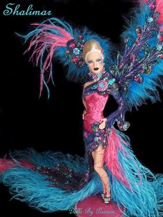 Whoah, this one is so pretty! ooak barbie by Dolls By Passion