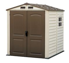 Duramax Premier Series Vinyl Storage Sheds with Shingle overlapped Roof