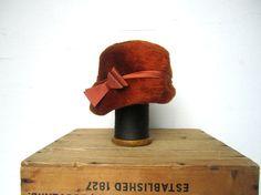 #Orange #Hat #Vintage #Womens