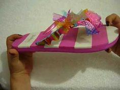 ▶ Manualidades y accesorios la hormiga. como decorar unas hermosas sandalias. video No.029 - YouTube