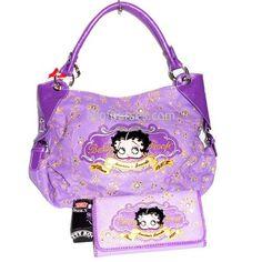 Betty Boop Lavender Gold Embroidered Purple Rhinestone « Clothing Impulse
