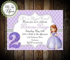 Sofia The First Invitation, Sofia The First Birthday Invitation, Sofia The  First Party, Digital Invite, Printable, Princess Sofia By WhiteTulipPaperie  On ...
