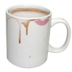 No one will ever steal your mug again. Catch people out with this novelty mug – it looks filthy even when it's perfectly clean! If you share a cupboard at work, then it's one way to make sure that no one will ever steal your mug again! Looking like it's smudged with lipstick and coffee stains, they're really just part of the pattern. Fully dishwasher and microwave safe, this makes a great gift for freaking out neat freaks! The mug measures approx 9.5 cm x 12 cm x 8 cm