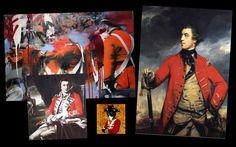 Mood Board for Black Jack Randall | From Outlander costume designer Terry Dresbach's blog Outlander Clothing, Outlander Costumes, Terry Dresbach, Serie Outlander, Jack Black, Mood, Painting, Jamie Fraser, Design