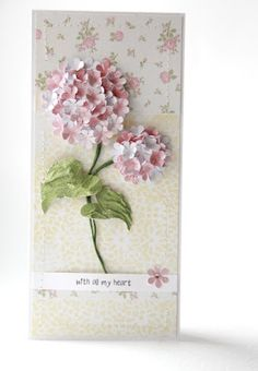 it takes patience to do that. beauty is the result. Cute Cards, Diy Cards, Flower Cards, Paper Flowers, Beautiful Handmade Cards, Marianne Design, Card Making Inspiration, Scrapbook Cards, Scrapbooking