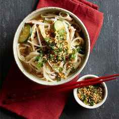 Pad Thai Soup: We reimagined the traditionally sticky noodle stir-fry as a speedy soup. Recipe: http://www.midwestliving.com/recipe/pad-thai-soup/