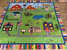 Libby quilted this for a little one in her life. We love the farm animals and…
