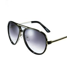 [$75.99] Solid Black Frame Retro Vogue Oversized UV Protection Sunglasses for Women - Free Shipping